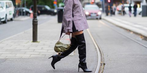 Street fashion, Clothing, Photograph, Fashion, Snapshot, Footwear, Knee, Outerwear, Coat, Ankle,