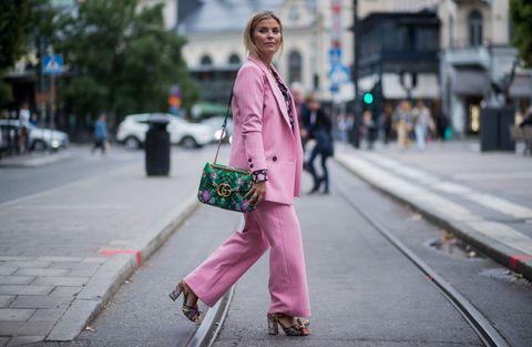 Pink, Street fashion, Photograph, Street, Fashion, Snapshot, Pedestrian, Road, Urban area, Outerwear,