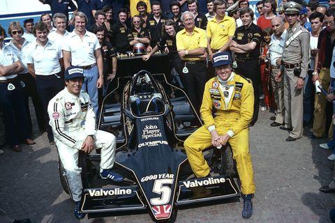 Mario Andretti, Ronnie Peterson, Colin Chapman, Grand Prix Of Italy