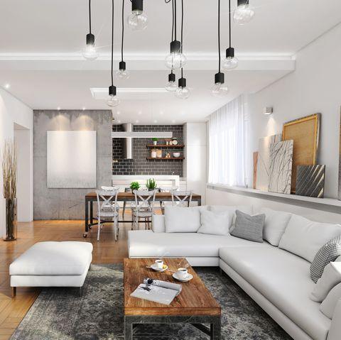 Modern hipster apartment interior