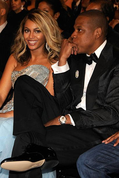 exclusive, premium rates apply los angeles, ca   february 10  singer beyonce and rapper jay z at the 50th annual grammy awards at the staples center on february 10, 2008 in los angeles, california exclusive  photo by kevin mazurwireimage