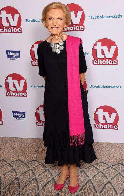 london, england   september 04  mary berry arrives at the tv choice awards at the dorchester on september 4, 2017 in london, england  photo by dave j hogandave j hogangetty images