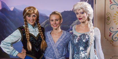 """Kristen Bell With Anna and Elsa from """"Frozen"""""""