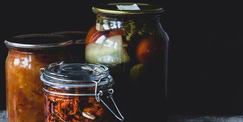 Mason jar, Food, Still life photography, Ingredient, Cuisine, Preserved food, Still life, Pickling, Dish, Produce,