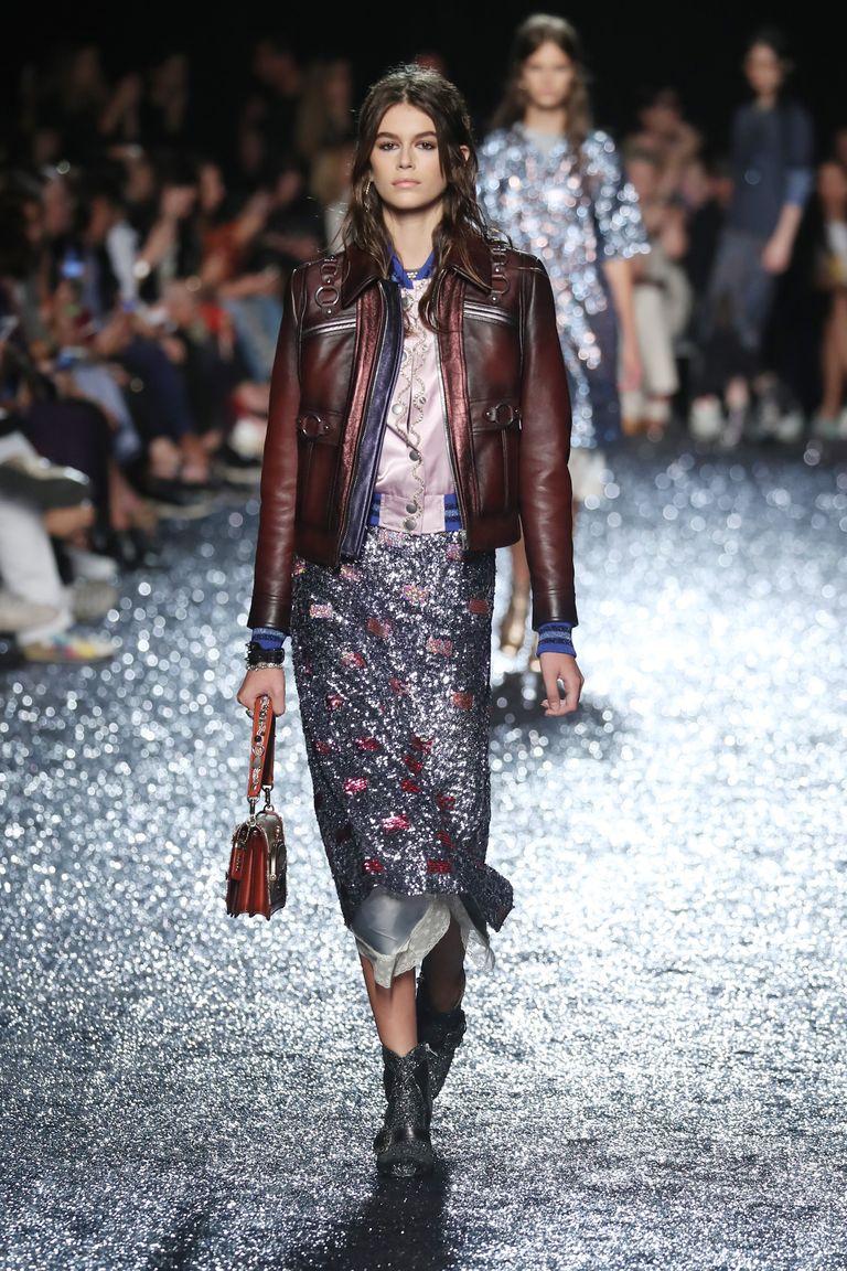 Kaia Gerber On The Runway At New York Fashion Week