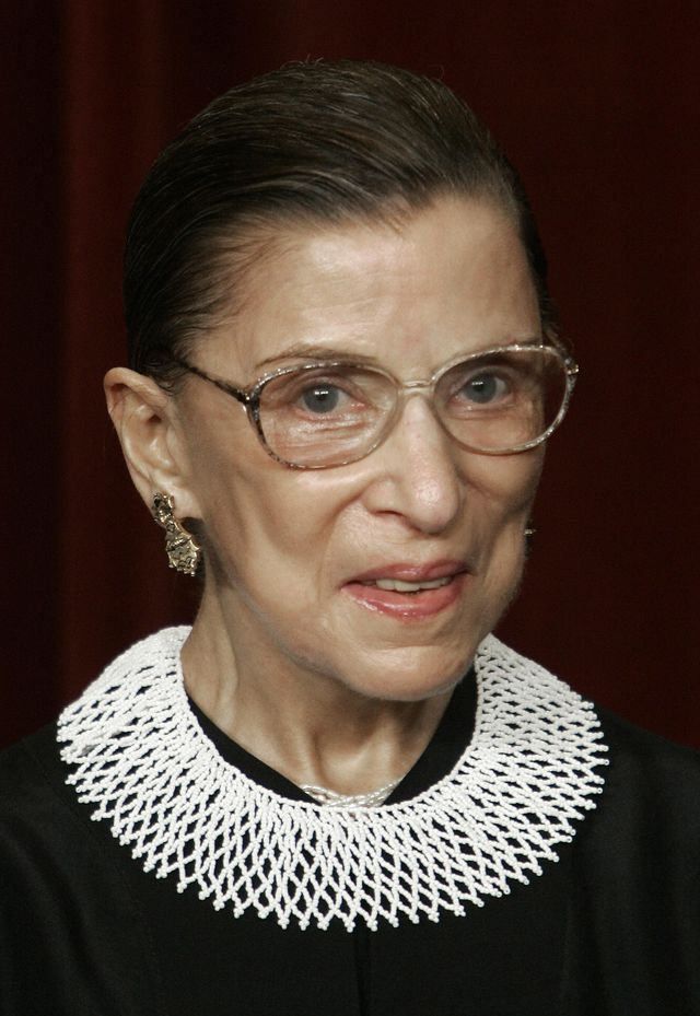 files us supreme court justice ruth bader ginsburg poses for a class photo 03 march 2006 inside the supreme court in washington, dc a statement released by the supreme court february 5, 2009 ginsburg has undergone surgery for pancreatic cancer, which was apparently at an early stage court officials said  ginsburg, 75, had surgery thursday at the memorial sloan kettering cancer center in new york she is expected to be in the hospital for seven 10 days, said her surgeon dr murray brennan     afp photopaul j richardsfiles photo credit should read paul j richardsafp via getty images