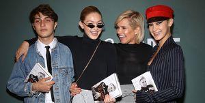 Gigi Hadid, Bella Hadid, Anwar Hadid