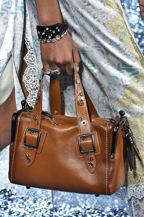 Bag, Handbag, Leather, White, Brown, Fashion accessory, Tan, Fashion, Caramel color, Shoulder bag,