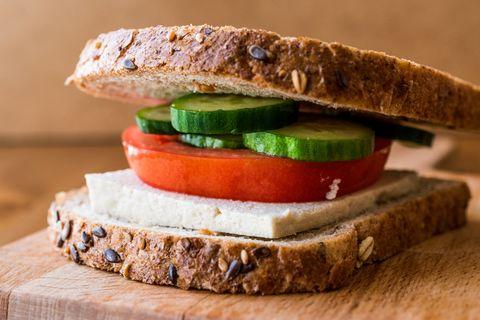 Food, Dish, Cuisine, Sandwich, Ingredient, Vegan nutrition, Breakfast sandwich, Produce, Finger food, Vegetarian food,