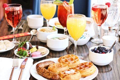 Meal, Food, Brunch, Dish, Breakfast, Cuisine, Ingredient, Drink, Full breakfast, À la carte food,