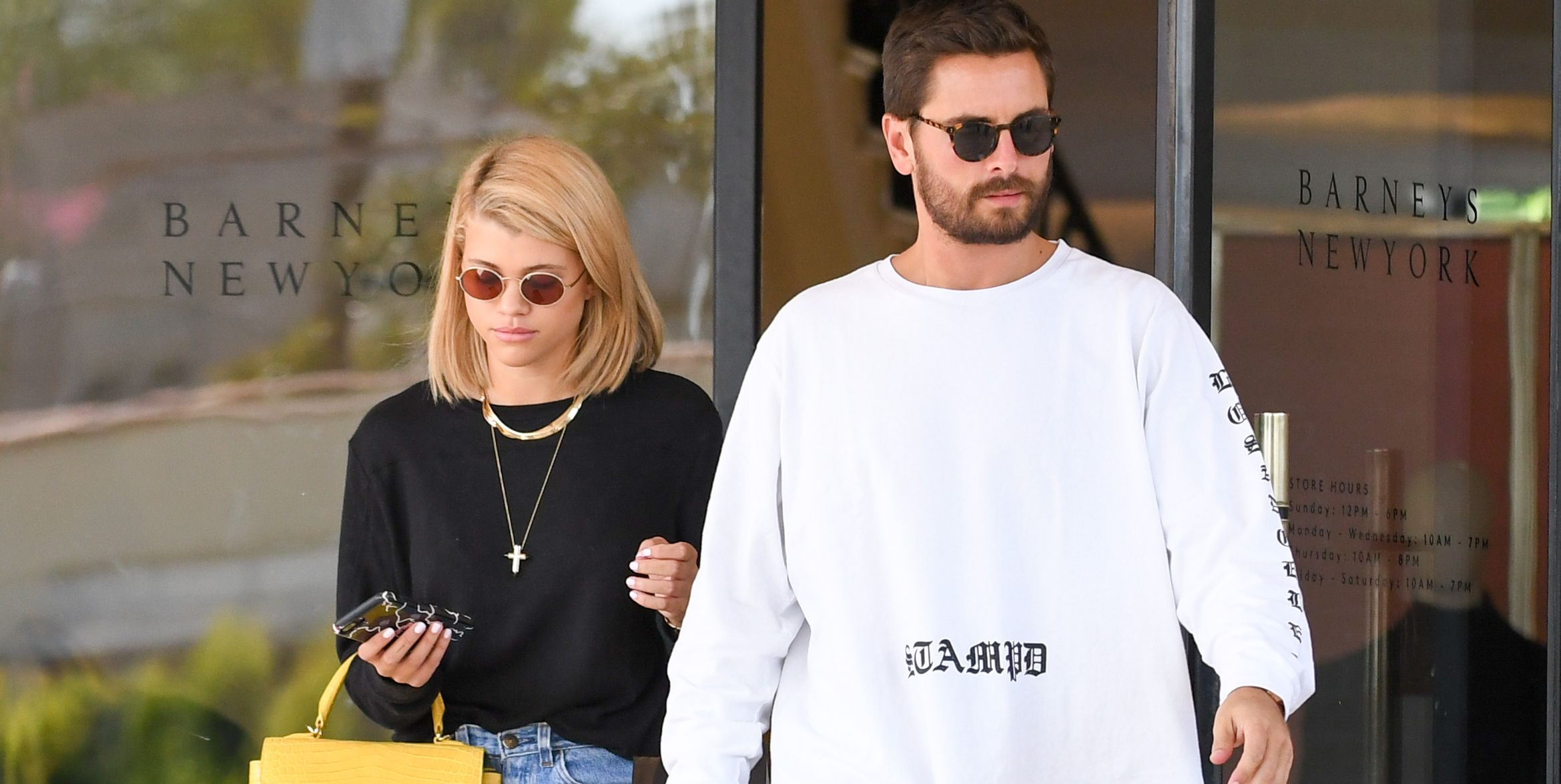 Scott Disick and Sofia Richie Just Made it Instagram Official With a Kiss