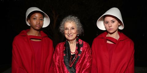 Author Margaret Atwood, winner of the award for Outstanding Drama Series for 'The Handmaid's Tale' attends Hulu's 2017 Emmy After Party at Otium on September 17, 2017 in Los Angeles, California.