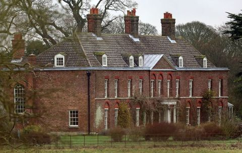 a general view of anmer hall on the royal sandringham estate in norfolk, following reports that queen elizabeth ii will gift the georgian property, situated in anmer village, norfolk, to the the duke and duchess of cambridge   photo by chris radburnpa images via getty images