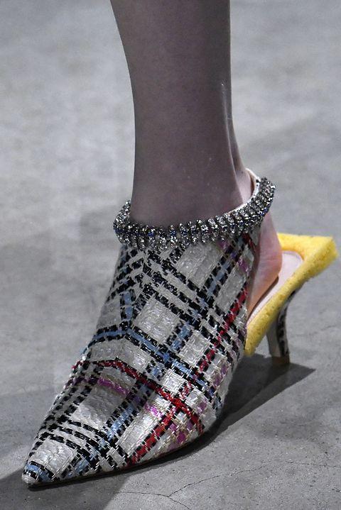 Footwear, Shoe, High heels, Ankle, Tartan, Fashion, Pattern, Leg, Design, Joint,