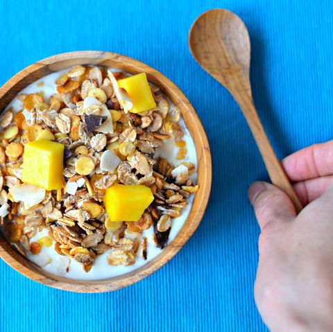 Yogurt and granola breakfast bowl