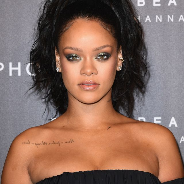 paris, france   september 21  rihanna attends the fenty beauty by rihanna paris launch party hosted by sephora at jardin des tuileries on september 21, 2017 in paris, france  photo by pascal le segretaingetty images for fenty beauty