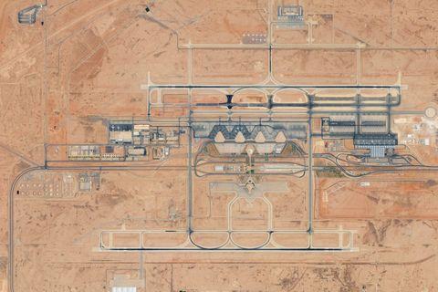 DigitalGlobe Satellite Imagery of King Khalid International Airport in Riyadh, Saudi Arabia.