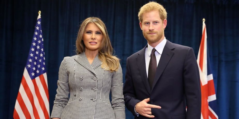 melania trump and prince harry