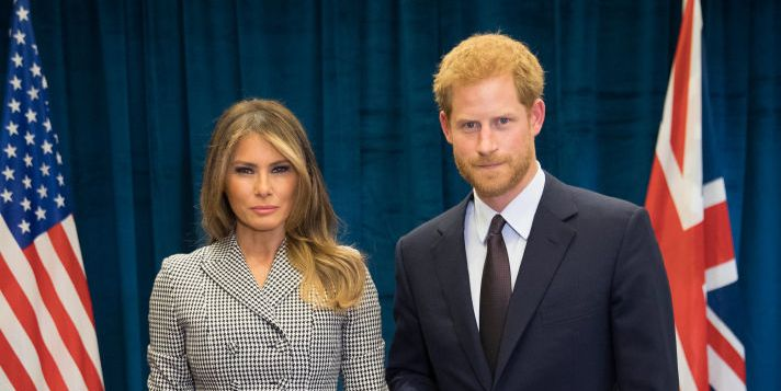 Prince Harry en Melania Trump