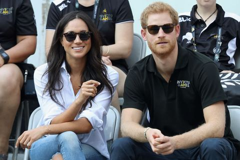 toronto, on   september 25  prince harry and meghan markle attend a wheelchair tennis match during the invictus games 2017 at nathan philips square on september 25, 2017 in toronto, canada  photo by chris jacksongetty images for the invictus games foundation