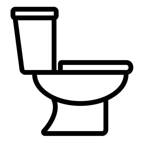 toilet icon on white background