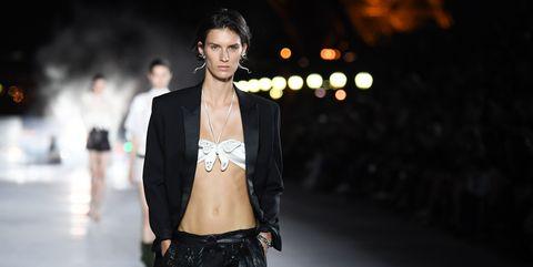 Fashion model, Fashion, Runway, Fashion show, Beauty, Street fashion, Model, Human, Fashion design, Haute couture,
