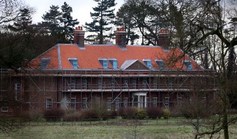 general view of anmer hall as work continues on the royal country retreat gifted to the duke and duchess of cambridge on queen elizabeth ii's sandringham estate in norfolk   photo by chris radburnpa images via getty images