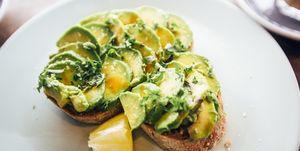 avocado, guacamole, toast