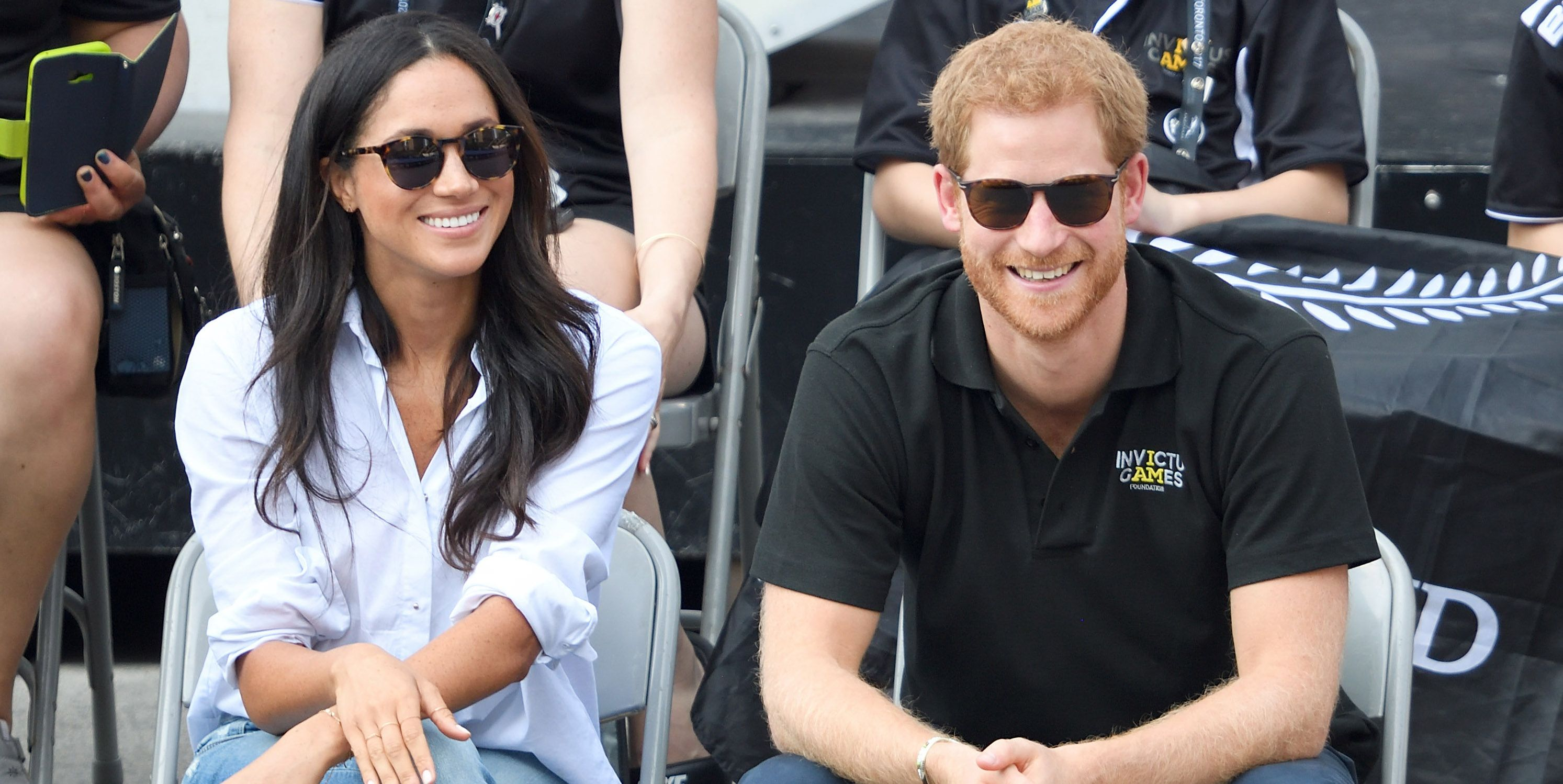 Meghan Markle Prince Harry Invictus games 2017 white shirt