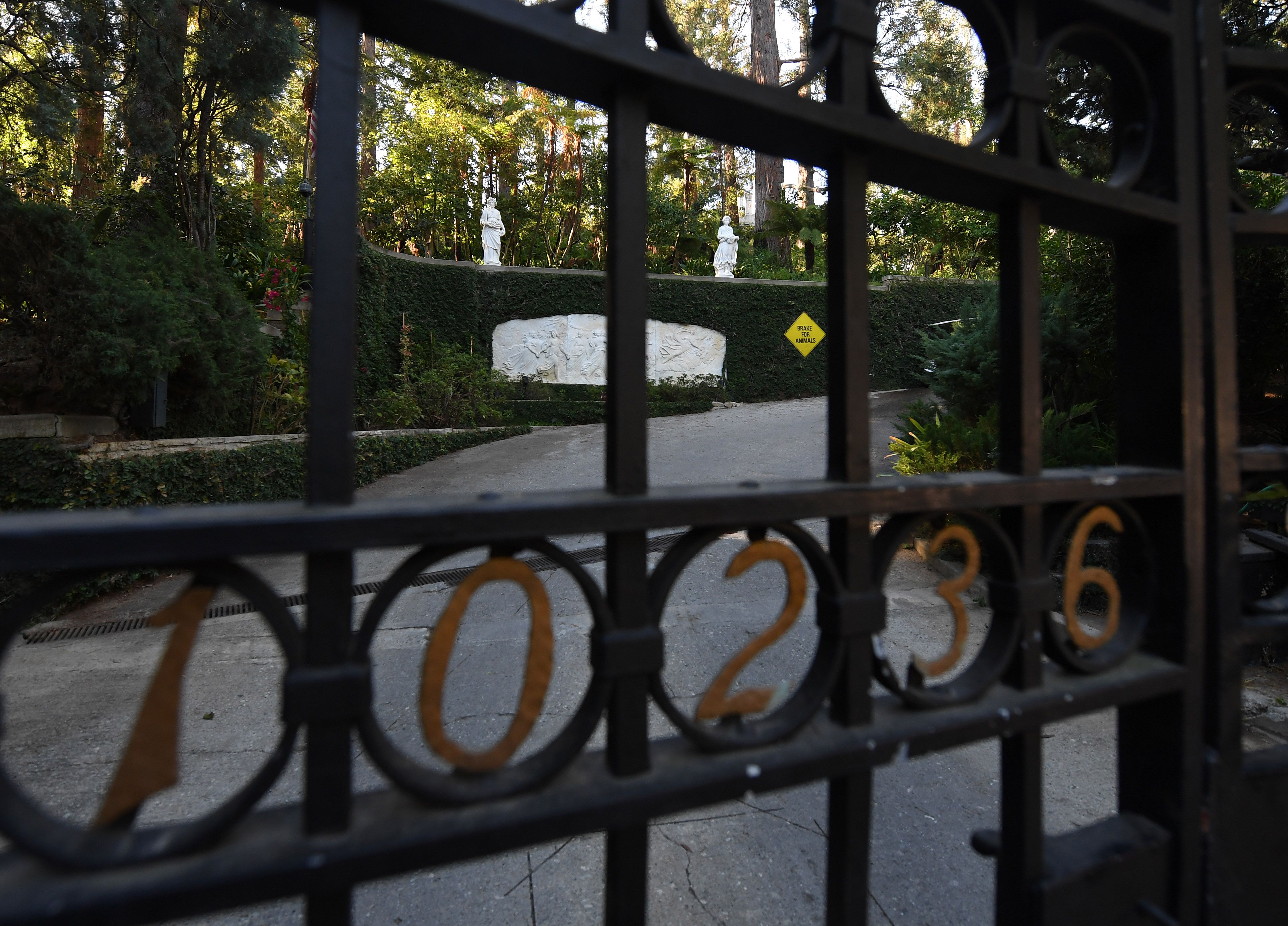Playboy Mansion Gate
