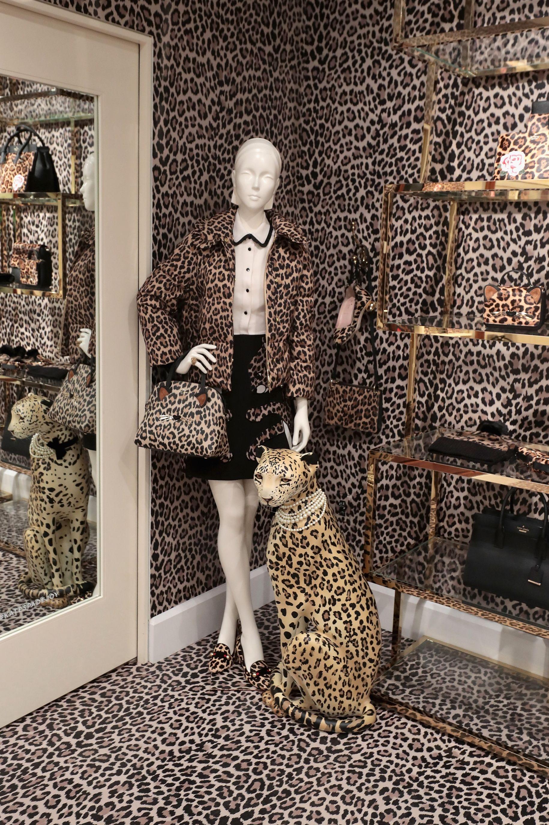 The leopard pop-up shop.