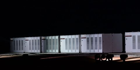 Light, Transport, Shipping container, Architecture, Night, Trailer, House,