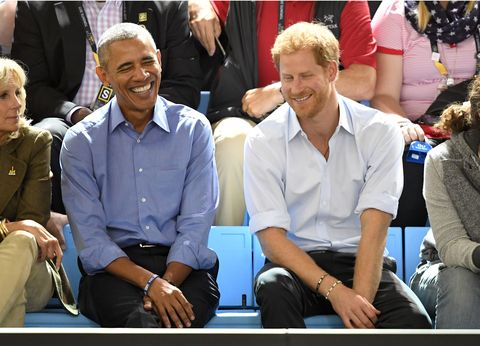 Prince Harry and Barack Obama