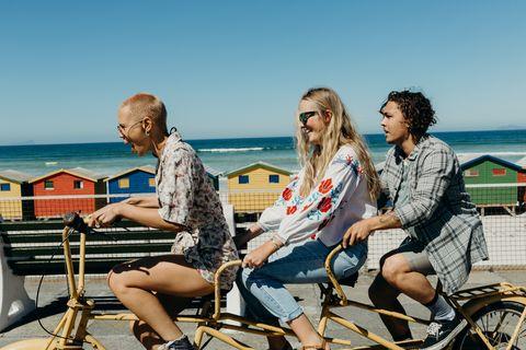 People, Vacation, Sitting, Fun, Leisure, Summer, Beach, Sea, Tourism, Eyewear,
