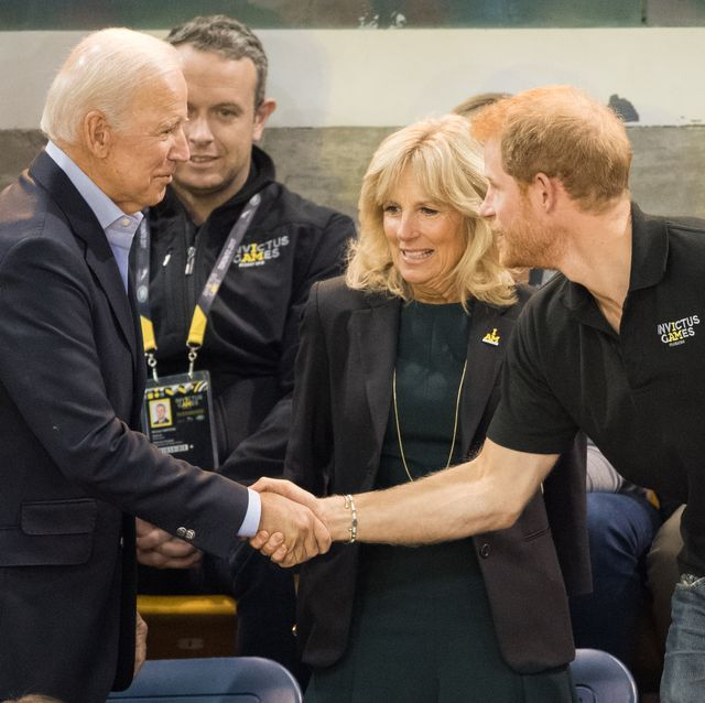toronto, on   september 30  joe biden, jill biden and prince harry attend the wheelchair basketball final on day 8 of the invictus games toronto 2017 on september 30, 2017 in toronto, canada  the games use the power of sport to inspire recovery, support rehabilitation and generate a wider understanding and respect for the armed forces  photo by samir husseinsamir husseinwireimage