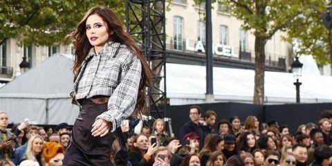 Cheryl on the catwalk