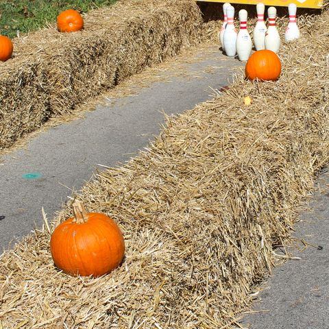 fun things to do on thanksgiving - hay bowling lane