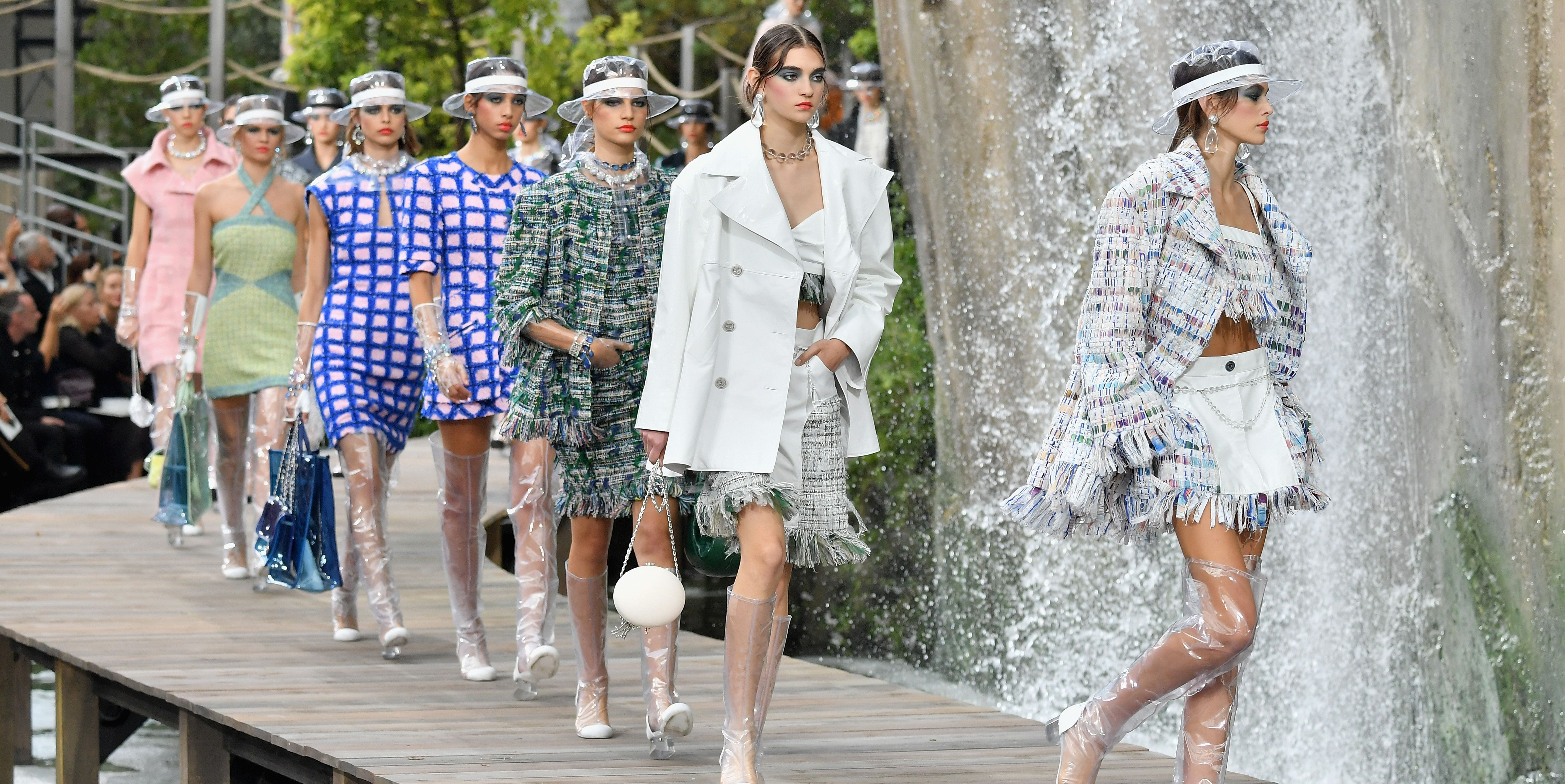 Image result for chanel plastic fashion show 2018