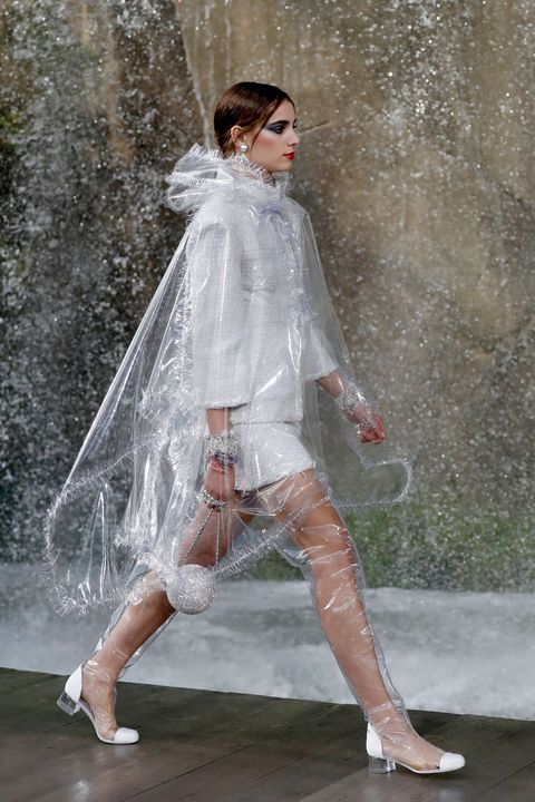 Chanel Clear Pvc Rainboots Spring 2018 Chanel Rainwear