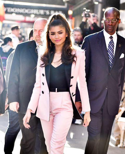 Suit, Clothing, Blazer, Outerwear, Street fashion, Fashion, Formal wear, Event, Tuxedo, White-collar worker,