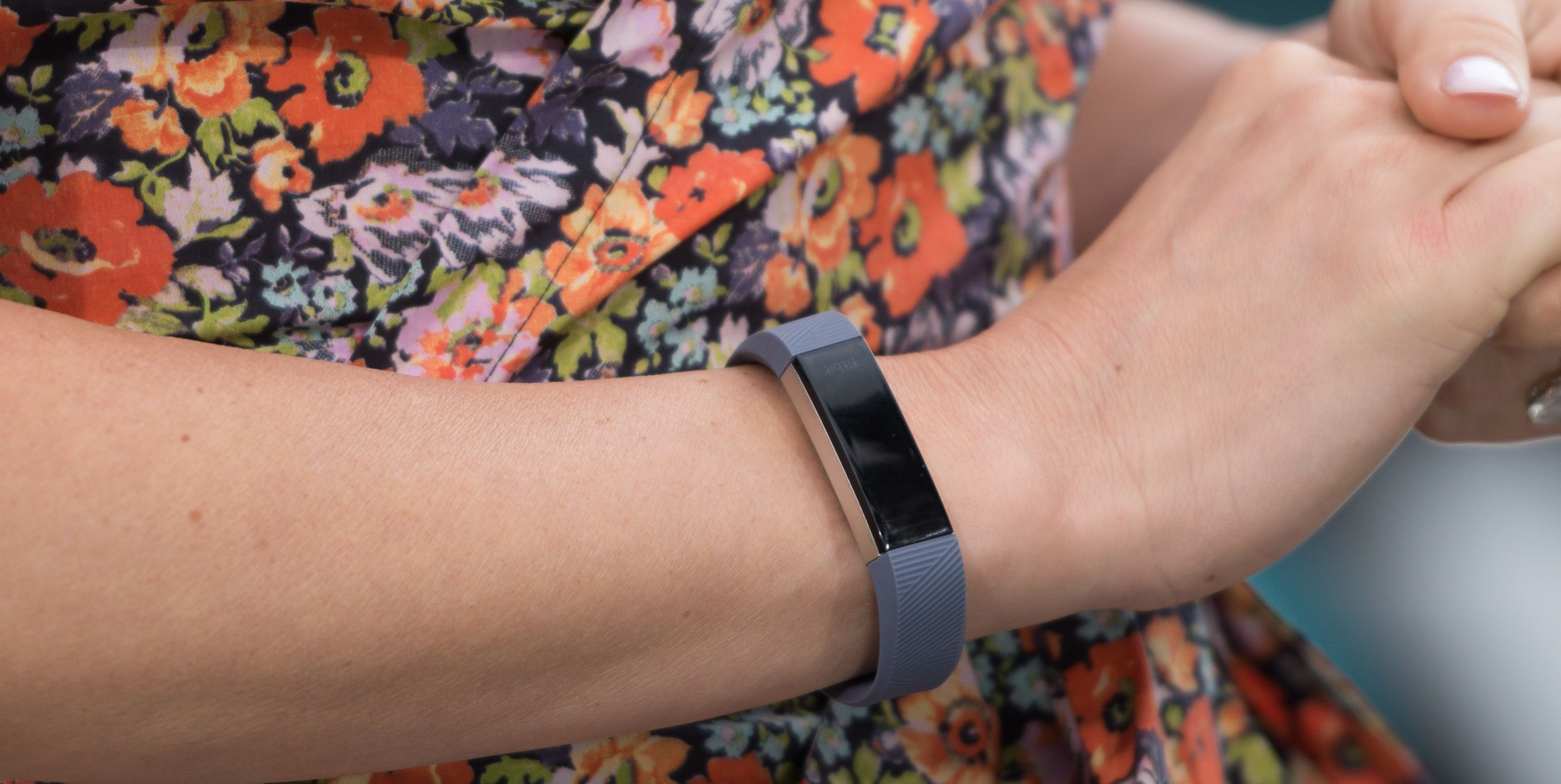 Fitbit on a woman's wrist