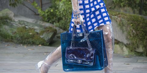Blue, Water, Tree, Plastic bag, Glass, Electric blue,
