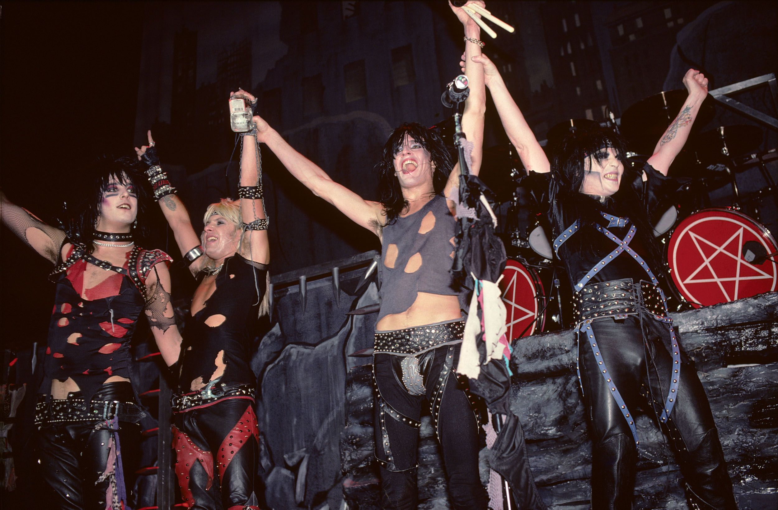Mötley Crüe performing in New Jersey in 1984.