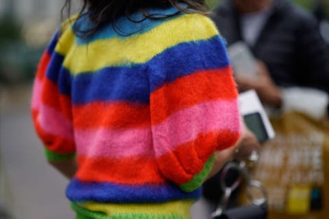 Wool, Yellow, Outerwear, Sweater, Textile, Knitting, Woolen, Child, High-visibility clothing, Street fashion,