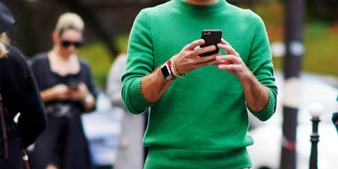 Green, Street fashion, Photography, Technology, Gadget, Electronic device, Recreation, Sleeve, T-shirt,