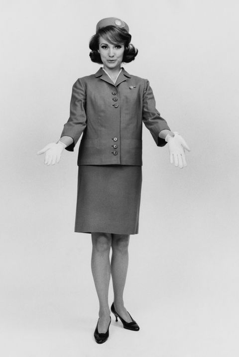 an air hostess in uniform, circa 1965 photo by frederic lewishulton archivegetty images