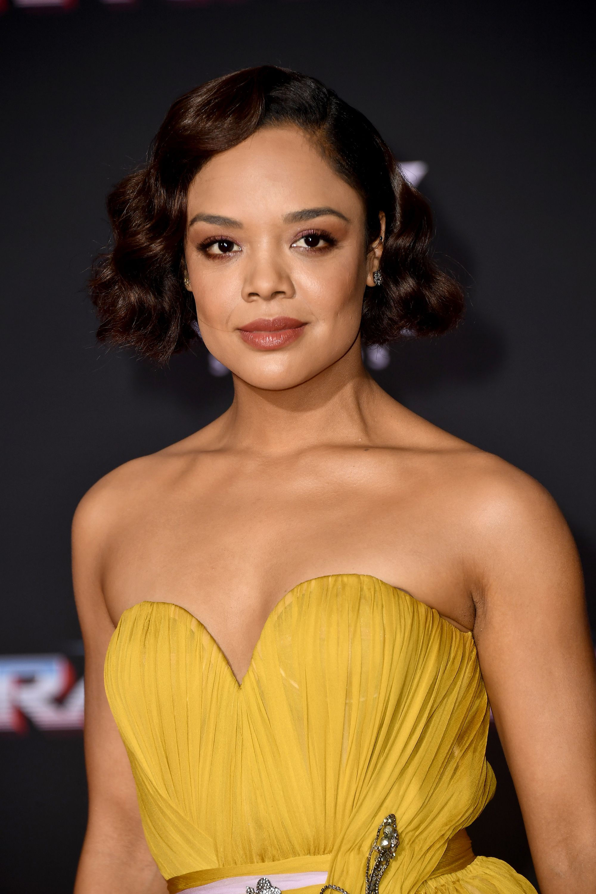 Tessa Thompson's Auburn Finger Waves