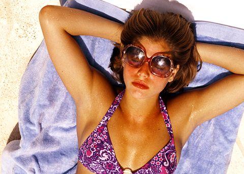 1970s sunbathing