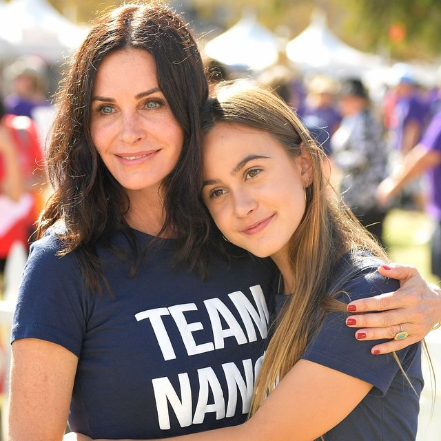 los angeles, ca   october 15  courteney cox and coco arquette attend the nanci ryders team nanci participates in the 15th annual la county walk to defeat als at exposition park on october 15, 2017 in los angeles, california  photo by matt winkelmeyergetty images