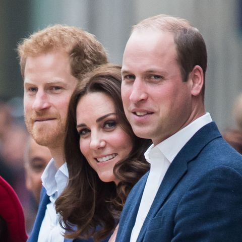 london, england   october 16  prince harry, catherine, duchess of cambridge and prince william, duke of cambridge  attend the charities forum event on board the belmond britigh pullman train at paddington station on october 16, 2017 in london, england  photo by samir husseinwireimage